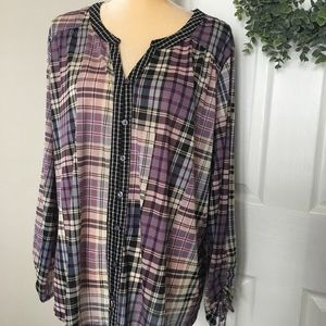 Style and co plaid blouse